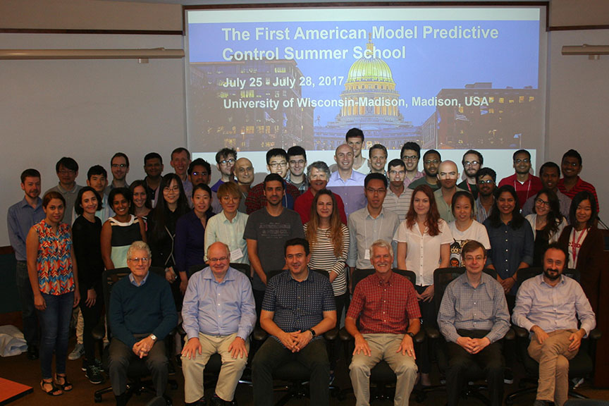 The First American Model Predictive Control Summer School; attendees and instructors.